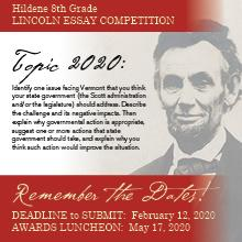 Lincoln Essay Competition 2020